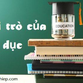 Hình ảnh vai trò của giáo dục 1